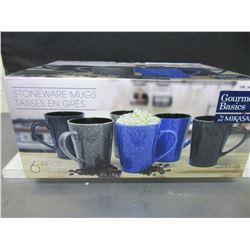 New Mikasa 6 piece Stoneware Mugs