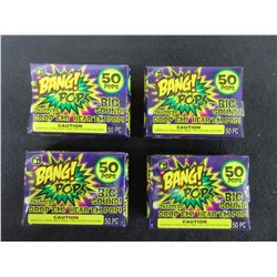 4 New pack of 50 BANG! POPS / drop em or throw em BIG BANG!