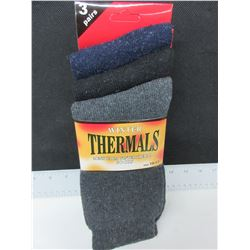 3 New pairs Men's Winter Thermal Socks / USA 10-13
