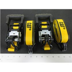 2 New CAT Ratchet Straps 1-1/2 x 16 feet 3000lb break strength