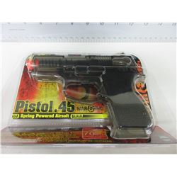 New .45 Caliber Air Soft Pistol / shoots 200fps and has 70bb Magazine