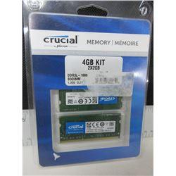 Crucial 4gb 2x2gb Memory Kit / DDR3L 1600 SODIMM