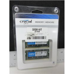 Crucial Memory Kit 32gb 2x16  DDR4 - 2400 SODIMM