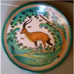Set of Two Handpainted Game Scene Plates