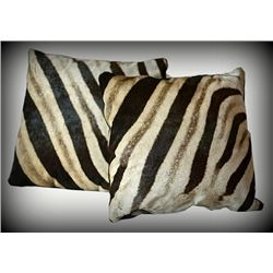 Set of Two African Hide Pillows
