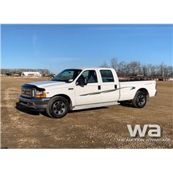 2001 FORD F350XL CREW CAB PICKUP
