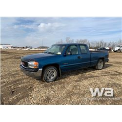 2001 GMC SIERRA 1500 PICKUP