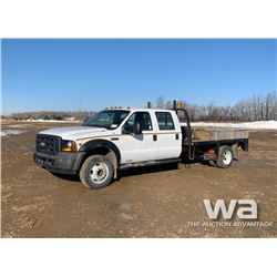 2006 FORD F450 CREW CAB FLATBED TRUCK