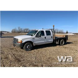 1999 FORD F350 CREW CAB FLATBED TRUCK