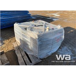 (4) ALUMINUM SQUARE FUEL TANKS