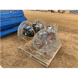 (4) 4 HP BRUSH FANS