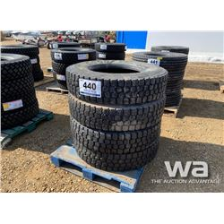 (4) GOODYEAR 11R22.5 TRUCK TIRES