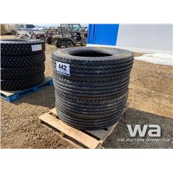 (4) FIRESTONE 11R24.5 TRUCK TIRES