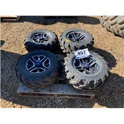 (2) 26X11.00R12 & (2) 26X9.00R12 ATV TIRES