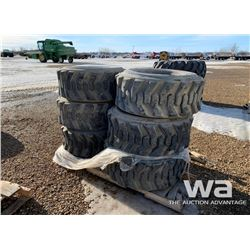 (6) 15-19.5 SKID STEER TIRES