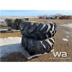 (2) GOODYEAR 23.1-26 TRACTOR TIRES & RIMS