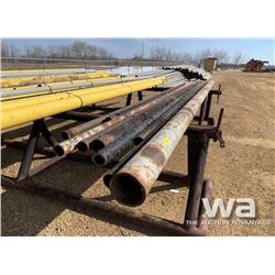 "(9) PIECES 6"", 4"", & 3"" STEEL PIPE"