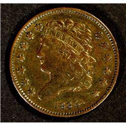 1835 HALF CENT, NICE XF COIN