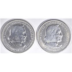 1892, 93 CH BU COLUMBIAN EXPO COMMEM HALF DOLLARS