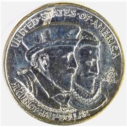 1924 HUGUENOT COMMEMORATIVE HALF DOLLAR, CH BU