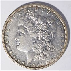 1895-O MORGAN DOLLAR, AU BETTER DATE