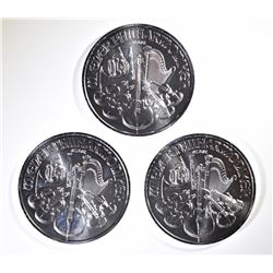 3-2019 AUSTRIAN 1oz SILVER PHILHARMONIC COINS