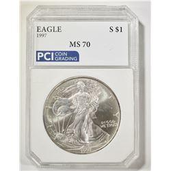 1997 AMERICAN SILVER EAGLE PCI PERFECT BU