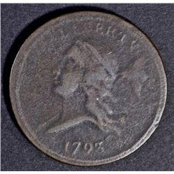 1793  LIBERTY CAP HALF CENT  XF