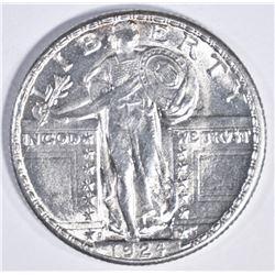 1924 D STANDING LIBERTY QUARTER GEM BU