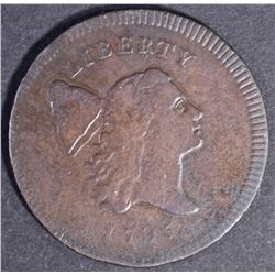 1795 HALF CENT, VF