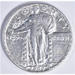 1927-S STANDING LIBERTY QUARTER, AU/BU