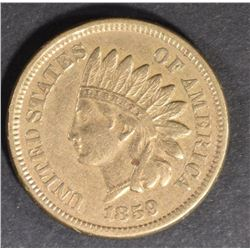 1859 INDIAN HEAD CENT XF/AU
