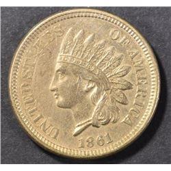 1861 INDIAN CENT BU