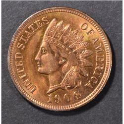 1906 INDIAN CENT CH/GEM BU