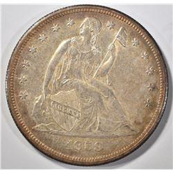 1859-O SEATED LIBERTY DOLLAR CH BU