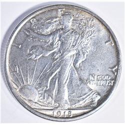 1918 D WALING LIBERTY HALF DOLLAR CH BU