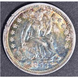 1853 O ARROWS SEATED HALF DIME  GEM BU