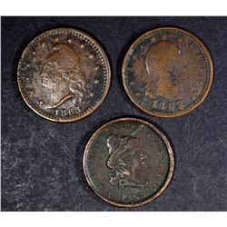 3-AVG CIRC CIVIL WAR TOKENS