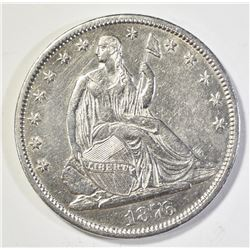 1876-CC SEATED HALF DOLLAR, AU/BU