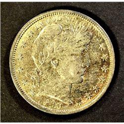 1900-O BARBER HALF DOLLAR, AU WITH LUSTRE