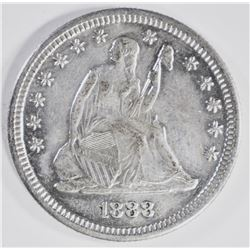 1888-S SEATED QUARTER, CH BU+