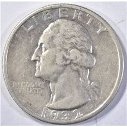 1932-S WASHINGTON QUARTER, CH BU