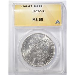 1902-O MORGAN DOLLAR ANACS MS-65