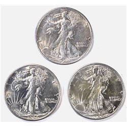3-1944-S CH BU WALKING LIBERTY HALF DOLLARS