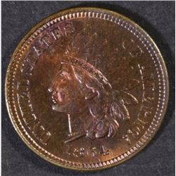 """1864 """"L"""" INDIAN CENT, GEM BU RB"""