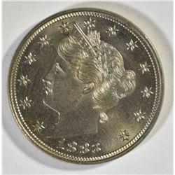 1883 NO CENTS LIBERTY NICKEL, GEM BU