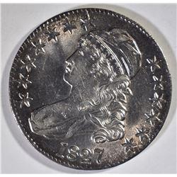 1827 BUST HALF DOLLAR, GEM BU