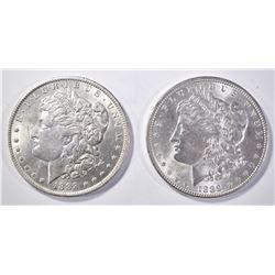 1888-O & 89 MORGAN DOLLARS BU