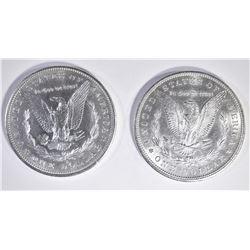 2 1879-S MORGAN DOLLARS BU
