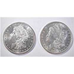 1880-S & 1901-O MORGAN DOLLARS CH BU